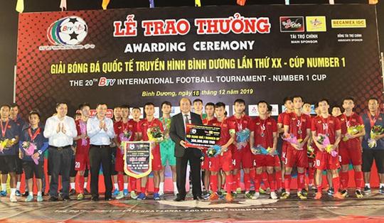 Thắng đậm U20 Việt Nam, Becamex Bình Dương vô địch BTV Cup - Ảnh 3.