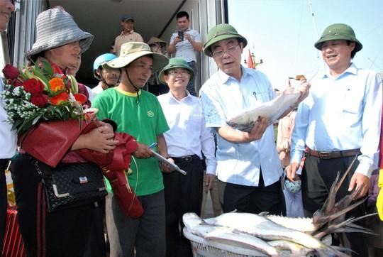 Đầu năm ra biển, ngư dân Quảng Trị trúng đàn cá bè gần 140 tấn - Ảnh 2.