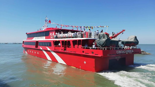 Đưa tàu cao tốc 2 thân vào hoạt động tuyến Vũng Tàu -Côn Đảo - Ảnh 3.