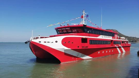 Đưa tàu cao tốc 2 thân vào hoạt động tuyến Vũng Tàu -Côn Đảo - Ảnh 1.