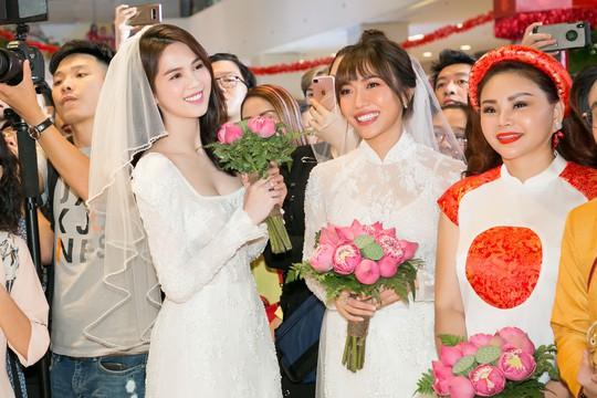 Ngọc Trinh và Diệu Nhi duyên dáng với đầm cô dâu - Ảnh 10.