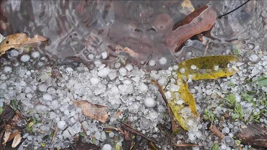 Mưa đá xuất hiện, gây nhiều thiệt hại - Ảnh 4.