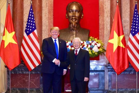 Toàn cảnh cuộc gặp Tổng Bí thư, Chủ tịch nước và Thủ tướng với Tổng thống Donald Trump - Ảnh 1.