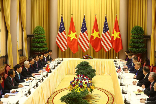 Toàn cảnh cuộc gặp Tổng Bí thư, Chủ tịch nước và Thủ tướng với Tổng thống Donald Trump - Ảnh 2.