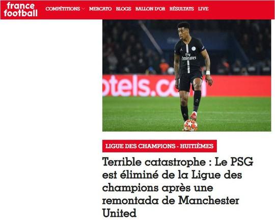 Tạp chí France Football: Trận thua của PSG là thảm họa khủng khiếp! - Ảnh 2.
