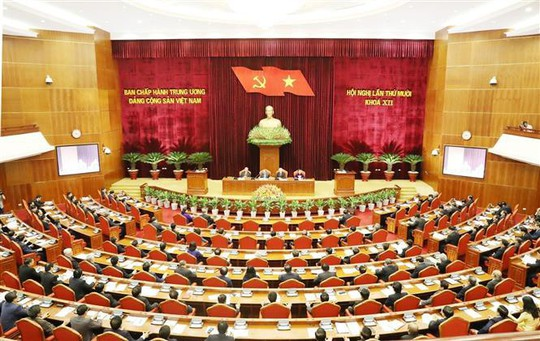 Cận cảnh khai mạc Hội nghị Trung ương 10 - Ảnh 1.