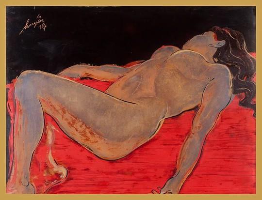 Cận cảnh bức tranh khỏa thân giá triệu USD của họa sĩ Lê Phổ - Ảnh 5.