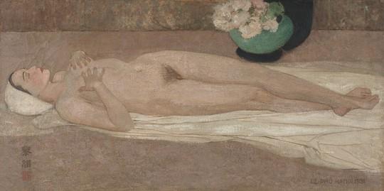Cận cảnh bức tranh khỏa thân giá triệu USD của họa sĩ Lê Phổ - Ảnh 1.