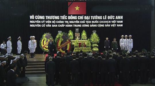 Lễ truy điệu, đưa tang nguyên Chủ tịch nước Lê Đức Anh - Ảnh 1.