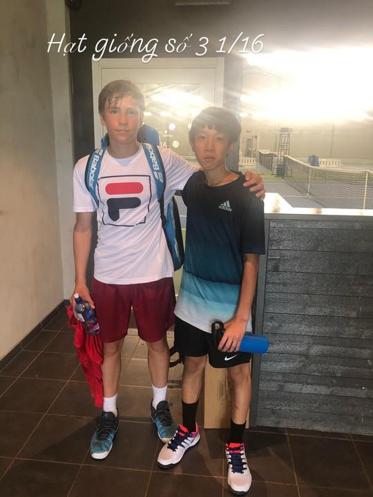 13 tuổi nhưng Phạm Lê Hoàng Anh vô địch U16 Giải Quần vợt ở Thụy Điển - Ảnh 2.