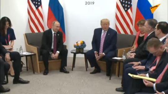Hai Tổng thống Putin và Trump gặp nhau bên lề G20 - Ảnh 1.