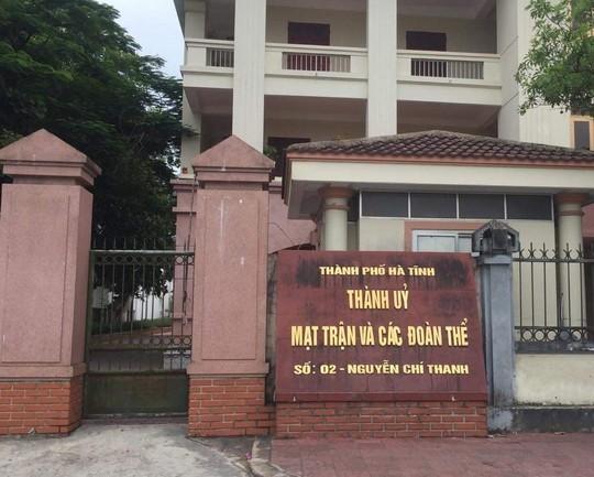 Kỷ luật Chủ tịch HĐND thành phố và Trưởng ban Tổ chức Thành ủy Hà Tĩnh - Ảnh 1.