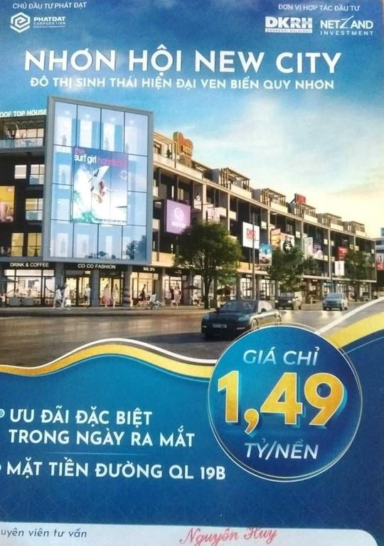 """Rao bán đất nền, dự án Nhơn Hội New City tiếp tục bị """"tuýt còi"""" - Ảnh 1."""