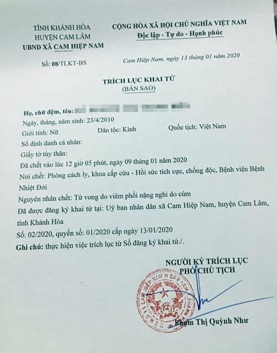 Bệnh nhân chết vì virus corona ở Khánh Hòa: Chủng virus cũ, không liên quan đến virus Vũ Hán - Ảnh 1.