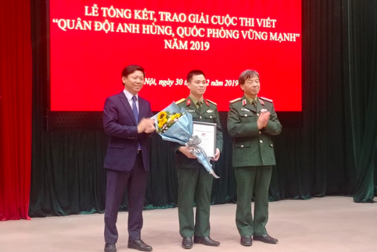"""19 tác phẩm đoạt giải Cuộc thi viết """"Quân đội anh hùng, quốc phòng vững mạnh"""" - Ảnh 1."""