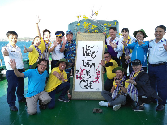 Các chiến sĩ giữ đảo Phú Quý vui hết mình trong Mùa xuân biển đảo - Ảnh 11.