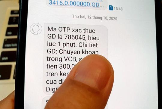 Xác thực giao dịch qua SMS OTP có lỗ hổng - Ảnh 1.