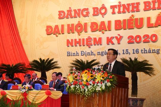 Ông Hoàng Trung Hải dự khai mạc Đại hội Đại biểu Đảng bộ tỉnh Bình Định  - Ảnh 1.