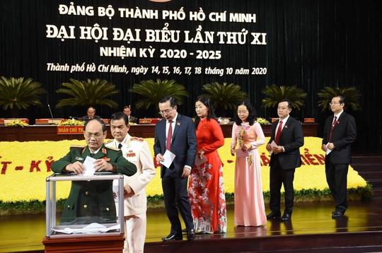 Đại hội Đảng bộ TP HCM khóa XI ủng hộ đồng bào bị bão lũ miền Trung - Ảnh 3.