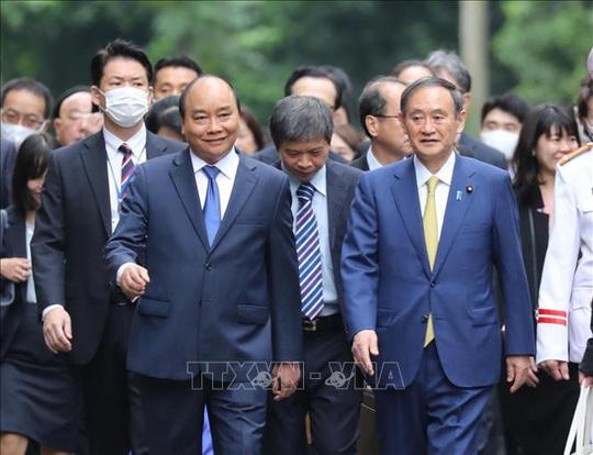 Thủ tướng Nguyễn Xuân Phúc chủ trì lễ đón Thủ tướng Nhật Bản - Ảnh 8.