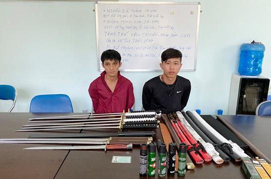 Bắt 2 đối tượng chở cả bao tải mã tấu từ TP HCM xuống Đồng Nai - Ảnh 1.