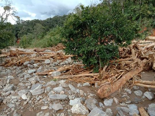 Vụ sạt lở ở Phước Sơn vùi lấp 11 người: Lực lượng cứu hộ phải ngủ lại trong rừng - Ảnh 10.