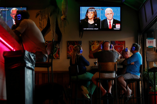 Bầu cử Mỹ: Hai phó tướng tranh luận từ tốn nhưng gay gắt - Ảnh 7.