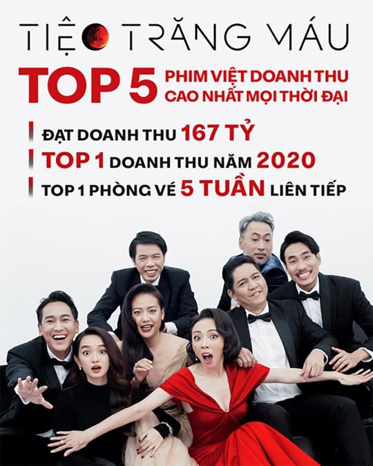 """""""Tiệc trăng máu"""" vào tốp 5 phim Việt ăn khách nhất - Ảnh 2."""