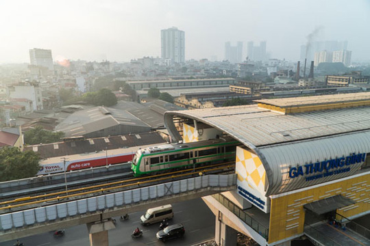 Đường sắt Cát Linh - Hà Đông chạy thử nghiệm cả hệ thống - Ảnh 1.