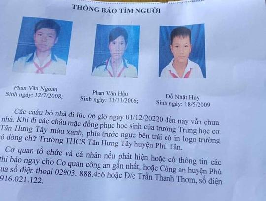 Sự thật về 3 bé trai được gia đình trình báo mất tích - Ảnh 1.
