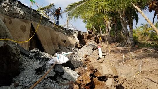 Cà Mau: Hạn mặn, sụt lún tàn phá kinh hoàng - Ảnh 4.