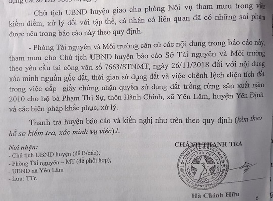 Lãnh đạo huyện xin rút kinh nghiệm vụ cấp đất trái quy định cho vợ chủ tịch xã - Ảnh 2.