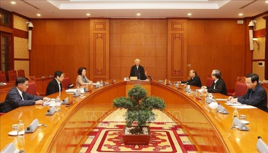 Tổng Bí thư, Chủ tịch nước Nguyễn Phú Trọng chủ trì họp Tiểu ban Nhân sự Đại hội XIII - Ảnh 2.