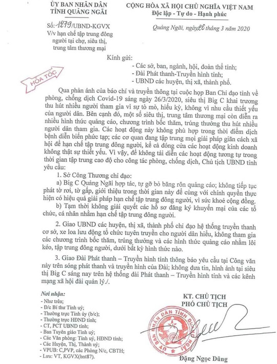 Siêu thị Big C Go Quảng Ngãi tạm dừng hoạt động, sau sự kiện khai trương tụ tập đông người - Ảnh 3.