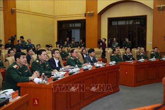 Cận cảnh quân đội diễn tập phòng, chống dịch Covid-19 tại Bộ Quốc phòng - Ảnh 1.
