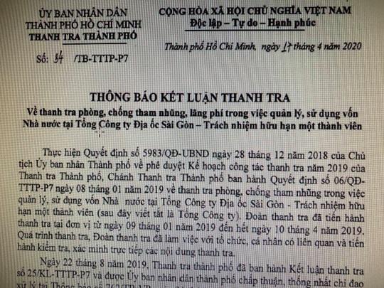 Nhiều sai phạm tại Tổng Công ty Địa ốc Sài Gòn TNHH MTV - Ảnh 1.