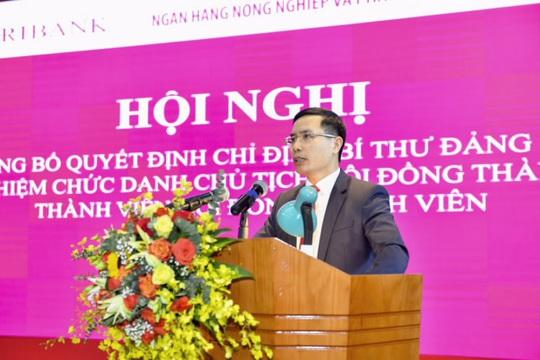 Chánh văn phòng NHNN được bổ nhiệm làm Chủ tịch HĐTV Agribank - Ảnh 1.