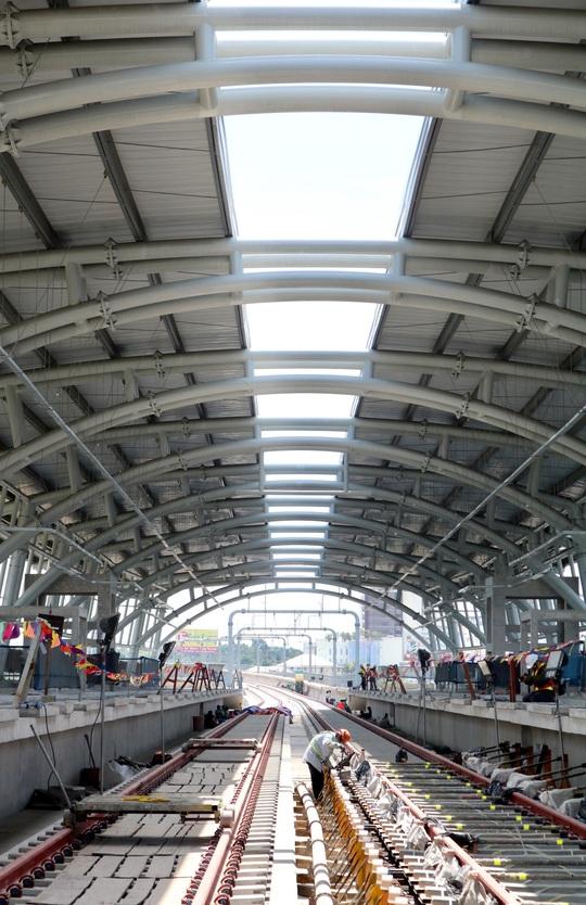 Cận cảnh Depot và ga trên cao tuyến metro Bến Thành - Suối Tiên - Ảnh 6.