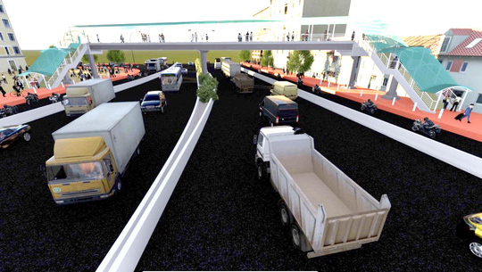Gần 11 tỉ đồng xây cầu bộ hành trước Bến xe An Sương - Ảnh 1.