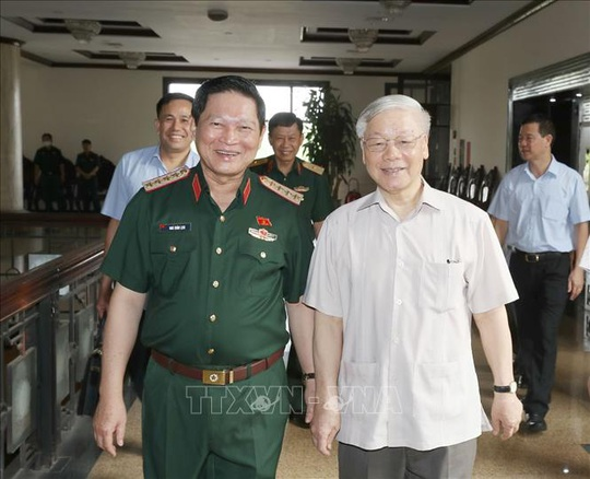 Chùm ảnh Tổng Bí thư, Chủ tịch nước Nguyễn Phú Trọng chủ trì Hội nghị Quân ủy Trung ương - Ảnh 3.
