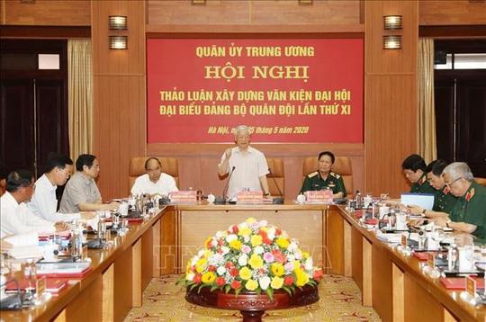 Chùm ảnh Tổng Bí thư, Chủ tịch nước Nguyễn Phú Trọng chủ trì Hội nghị Quân ủy Trung ương - Ảnh 6.