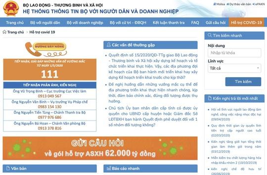 Triển khai Chuyên trang giải đáp và tiếp nhận phản hồi về gói hỗ trợ 62.000 tỉ đồng - Ảnh 3.