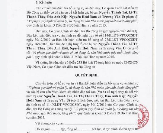 Bộ Công an kết luận gì đối với ông Nguyễn Thành Tài? - Ảnh 2.