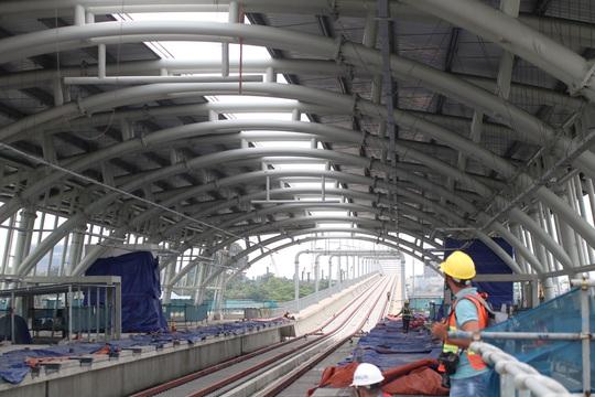Cận cảnh ga trên cao tuyến metro Bến Thành - Suối Tiên sắp hoàn thiện - Ảnh 7.