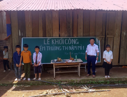 Xây 4 trường học cho con em người lao động vùng cao - Ảnh 1.