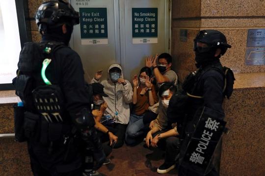 Cảnh sát Hồng Kông bắt nghi phạm biểu tình ngay trên máy bay - Ảnh 2.