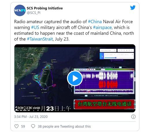 Máy bay Mỹ áp sát không phận Trung Quốc - Ảnh 1.