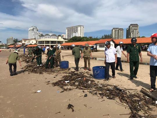Cận cảnh 800 người  giải cứu bãi biển Vũng Tàu - Ảnh 1.