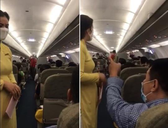 Người nói can ngăn vụ gây rối trên máy bay bị cấm bay 1 năm - Ảnh 1.