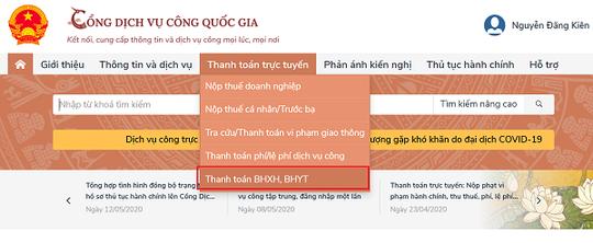 Cách gia hạn thẻ BHYT, đóng tiếp BHXH tự nguyện trên Cổng dịch vụ công Quốc gia - Ảnh 2.